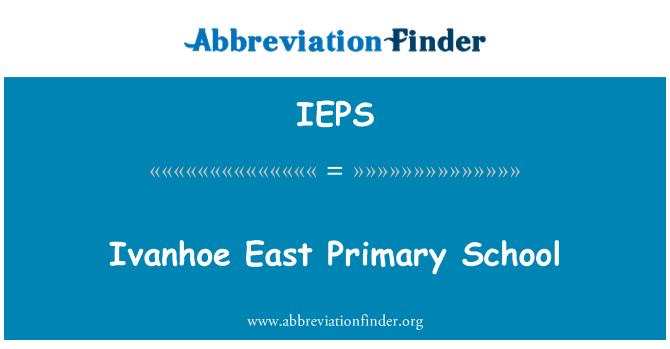 IEPS: Ivanhoe East Primary School