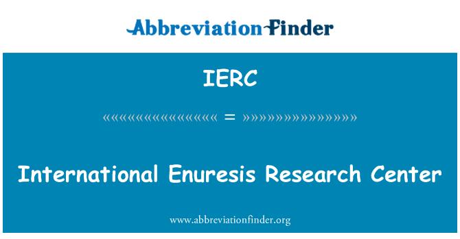 IERC: International Enuresis Research Center
