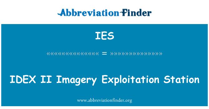 IES: IDEX II Imagery Exploitation Station