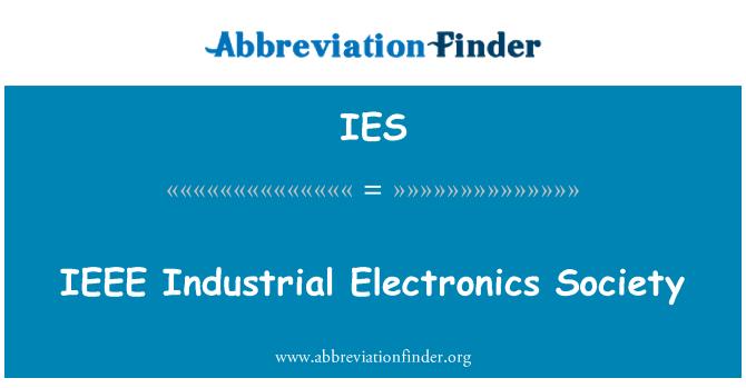 IES: IEEE Industrial Electronics Society