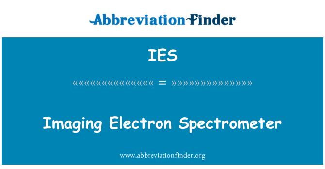 IES: Imaging Electron Spectrometer