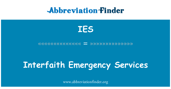 IES: Interfaith Emergency Services