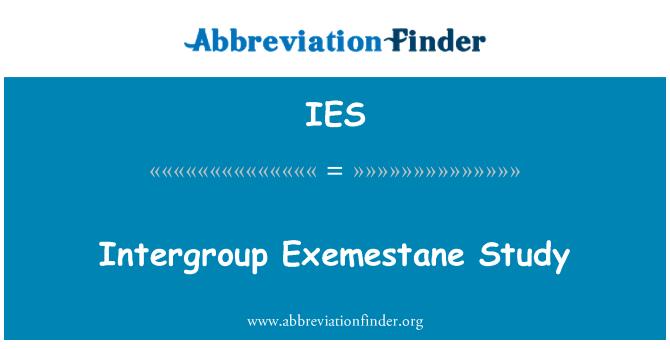 IES: Intergroup Exemestane Study