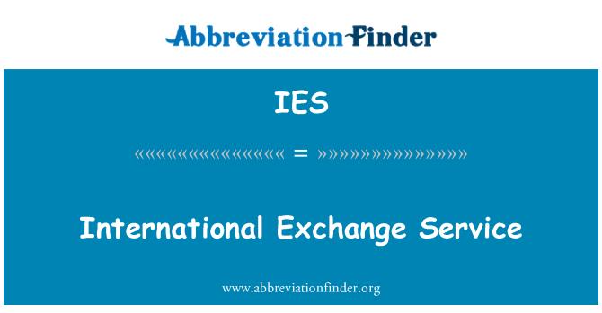 IES: International Exchange Service