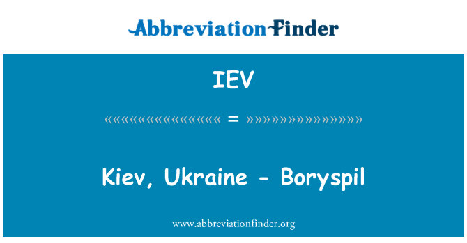 IEV: Kiev, Ukraine - Boryspil