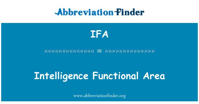 IFA: Intelligence Functional Area