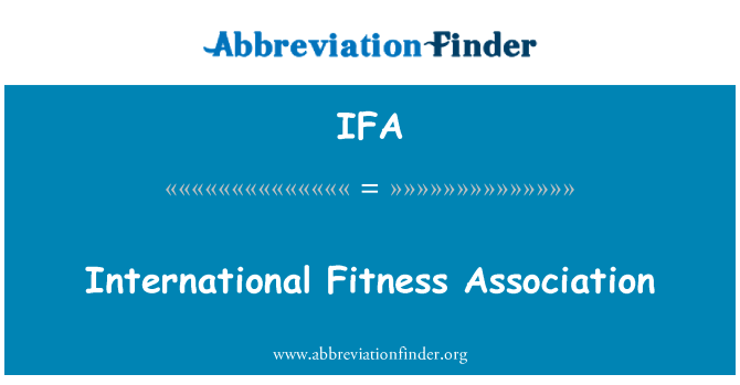 IFA: International Fitness Association