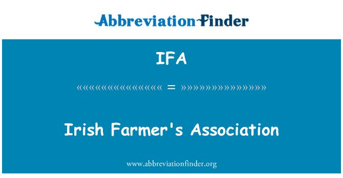 IFA: Irish Farmer's Association