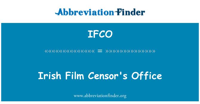 IFCO: İrlandalı Film sansür'ın ofis