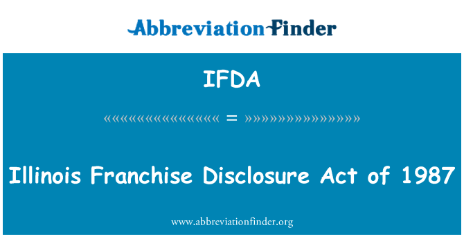 IFDA: Illinois francais pendedahan Akta 1987