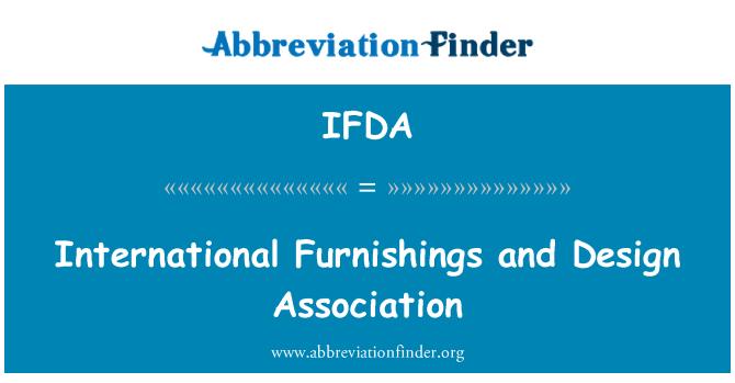 IFDA: Perabot antarabangsa dan Persatuan Reka bentuk