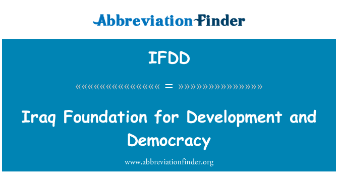 IFDD: Iraq Foundation for Development and Democracy