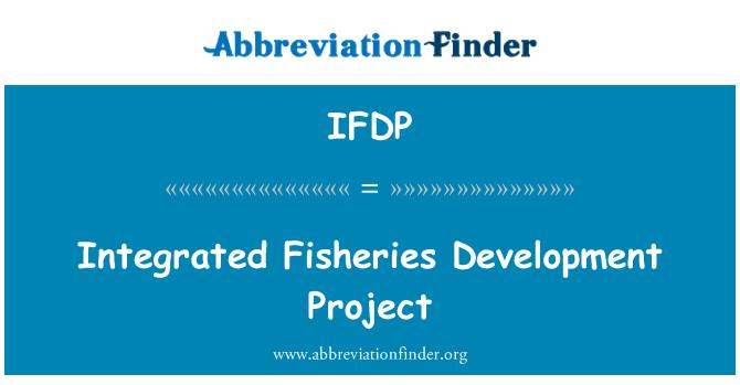 IFDP: Entegre balıkçılık geliştirme projesi