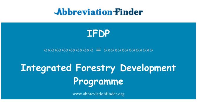IFDP: Entegre Ormancılık kalkınma programı