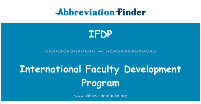IFDP: Uluslararası öğretim geliştirme programı