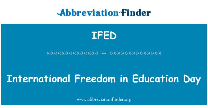 IFED: International Freedom in Education Day