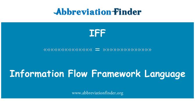 IFF: Information Flow Framework Language