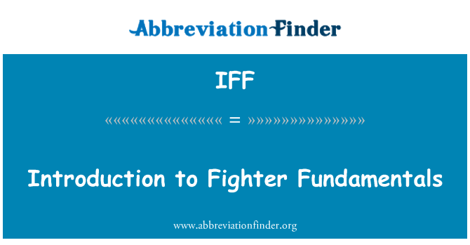 IFF: Introduction to Fighter Fundamentals