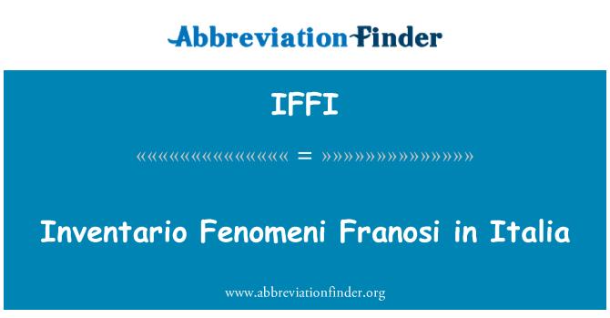 IFFI: Inventario Fenomeni Franosi en Italia