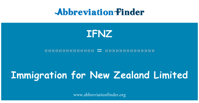 IFNZ: Immigration for New Zealand Limited