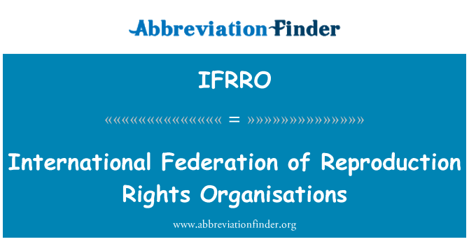IFRRO: International Federation of Reproduction Rights Organisations