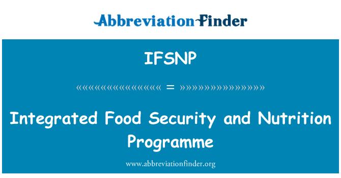 IFSNP: Sigurnost integriranog hrane i prehrane programa