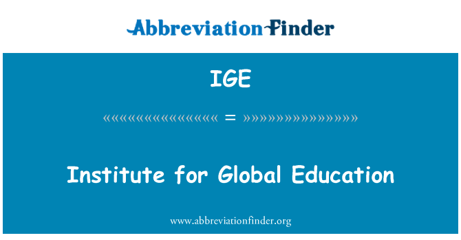 IGE: Institute for Global Education