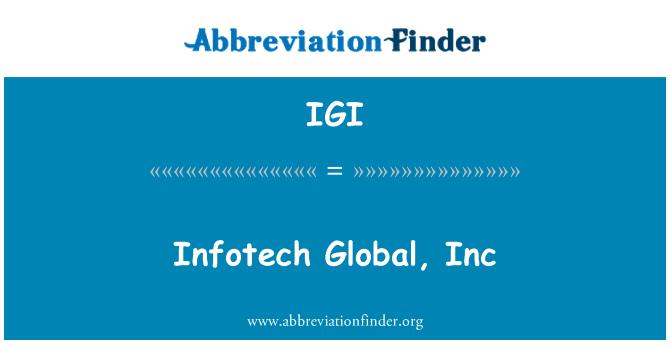 IGI: Infotech globaalne, Inc