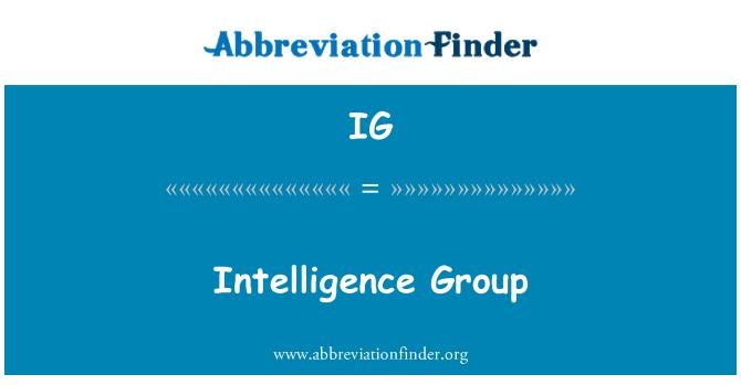 IG: Intelligence Group