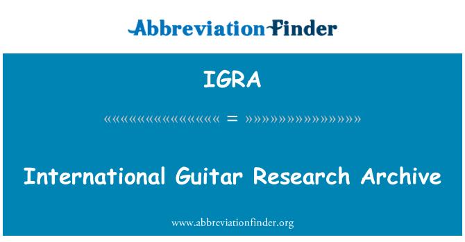 IGRA: Uluslararası gitar Araştırma Arşivi
