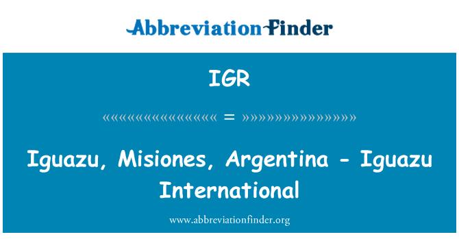 IGR: Iguazu, Misiones, Argentina - Iguazu International