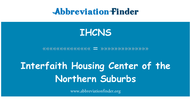 IHCNS: Interfaith Housing Center of the Northern Suburbs