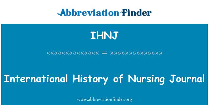 IHNJ: International History of Nursing Journal