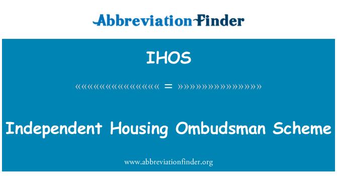 IHOS: Independent Housing Ombudsman Scheme