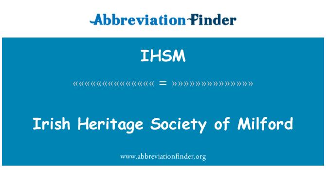 IHSM: Milford İrlandalı mirası Derneği