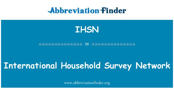 IHSN: International Household Survey Network