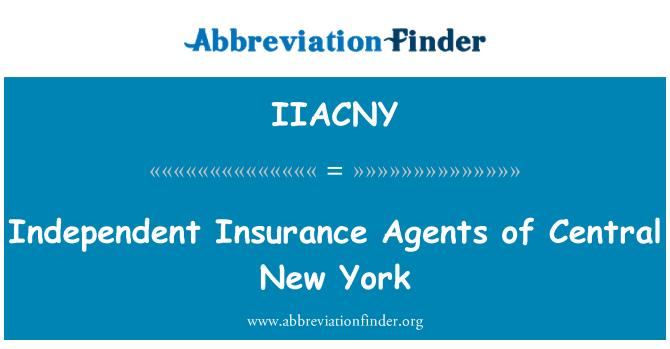 IIACNY: Agentes de seguros independientes de Nueva York Central