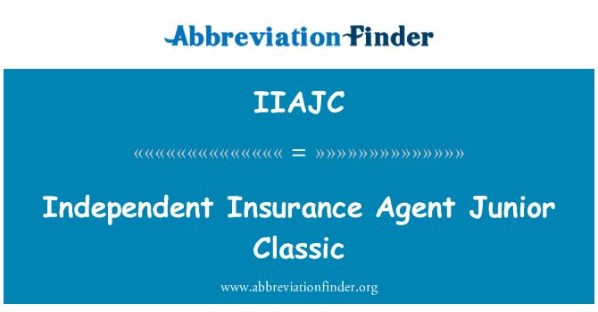 IIAJC: Independent Insurance Agent Junior Classic