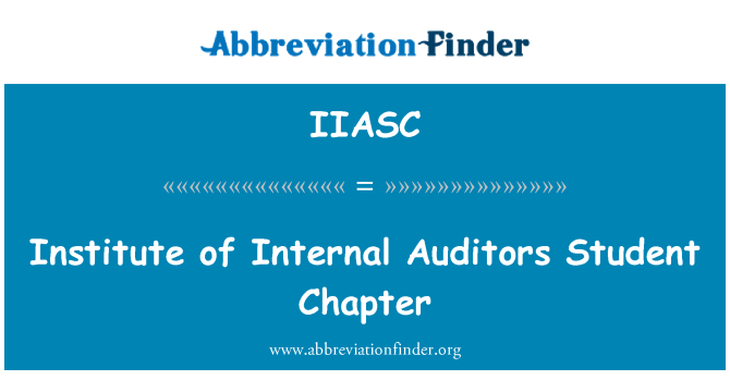 IIASC: Institute of Internal Auditors Student Chapter