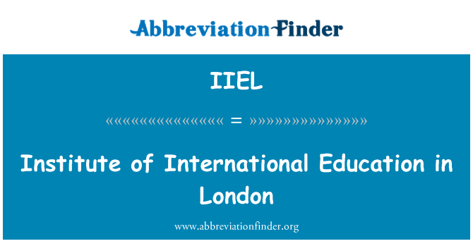 IIEL: Institute of International Education in London
