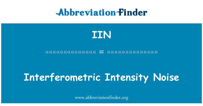 IIN: Interferometric Intensity Noise
