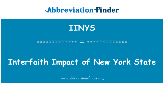 IINYS: Interfaith Impact of New York State