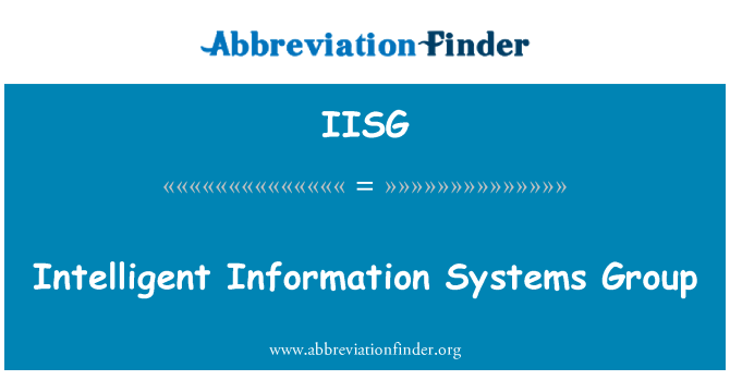 IISG: Intelligent Information Systems Group