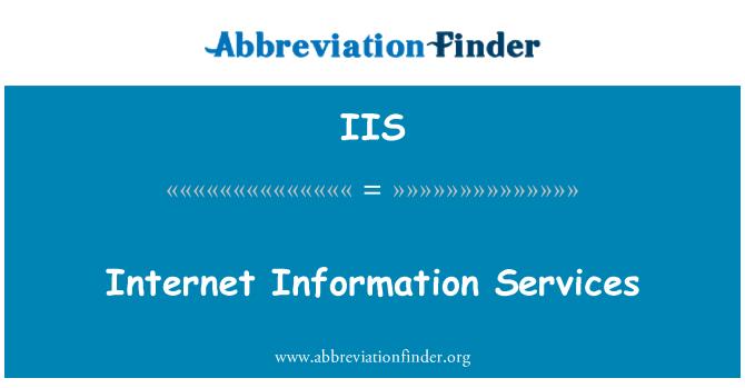 IIS: Internet Information Services