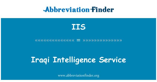 IIS: Iraqi Intelligence Service