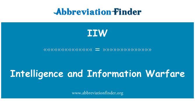 IIW: İstihbarat ve bilgi Savaşı