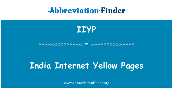 IIYP: India Internet Yellow Pages
