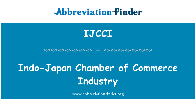 IJCCI: Indo-Japan Chamber of Commerce Industry