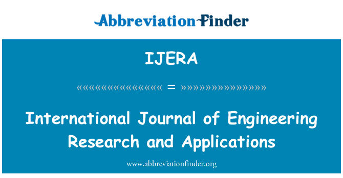 IJERA: International Journal of Engineering Research and Applications