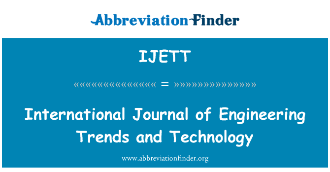 IJETT: International Journal of Engineering Trends and Technology